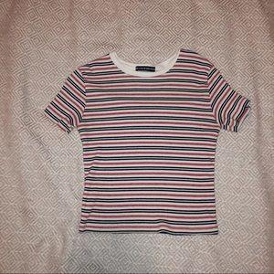⭐️Brandy Melville⭐️ striped cropped tee